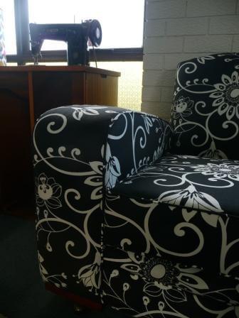club arm chair black n white