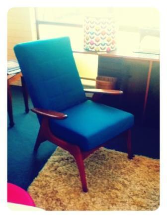 green retro chair